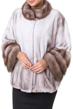 Шуба PT Quality Furs. Цвет: серебристый