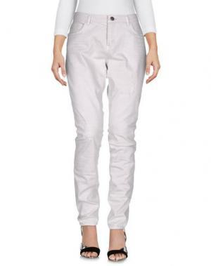 Джинсовые брюки YAYA. Цвет: светло-серый