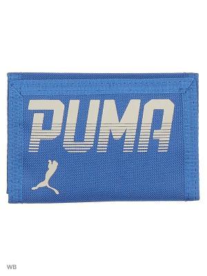 Кошелек PUMA Pioneer Wallet. Цвет: синий