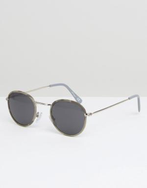Jeepers Peepers Круглые солнцезащитные очки. Цвет: серый