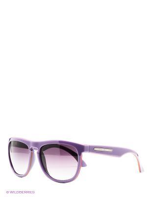 Солнцезащитные очки United Colors of Benetton. Цвет: сиреневый, коралловый