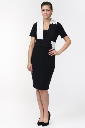 Платье Verda. Цвет: темно-синий, белый