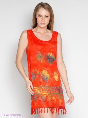 Платье Coline. Цвет: коралловый