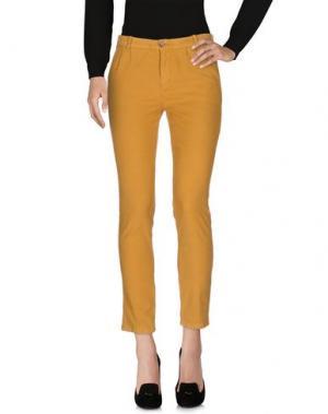Повседневные брюки HEAVY PROJECT. Цвет: охра