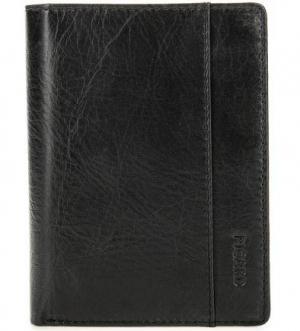 Черное кожаное портмоне с двумя отделами для купюр Picard. Цвет: черный