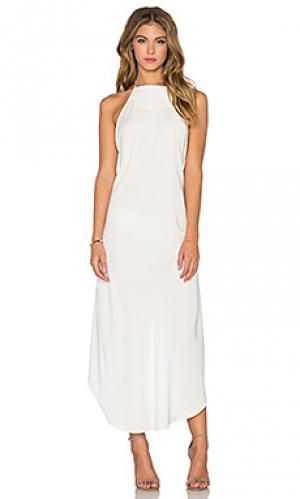 Платье холтер KES. Цвет: белый