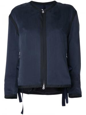 Куртка на молнии Cityshop. Цвет: синий