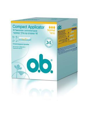 Тампоны Compact Applicator нормал 16шт o.b.. Цвет: белый
