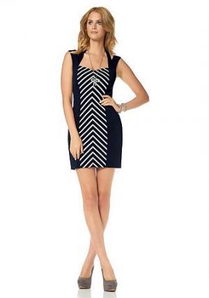 Платье-футляр Siena Studio. Цвет: темно-синий-белый