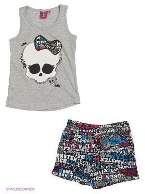 Пижама Monster High. Цвет: серый меланж