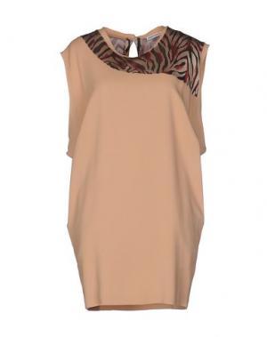 Короткое платье MARTA MARTINO. Цвет: телесный