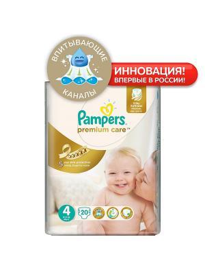 Подгузники Pampers Premium Care 8-14 кг, 4 размер, 20 шт. Цвет: белый