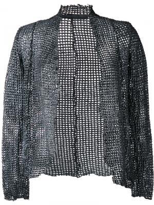 Плетеная куртка Salvatore Santoro. Цвет: серый