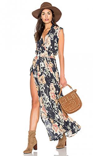 Платье fifi RAVN. Цвет: синий