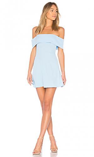 Платье со спущенными плечами aubrey by the way.. Цвет: нежно-голубой