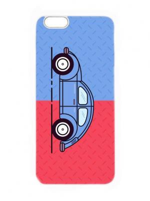 Чехол для iPhone 6 Сине-красный жук Chocopony. Цвет: синий, красный