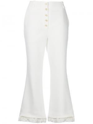 Укороченные брюки клеш Proenza Schouler. Цвет: белый