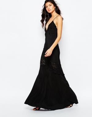 The Jetset Diaries Черное платье макси Amore. Цвет: черный