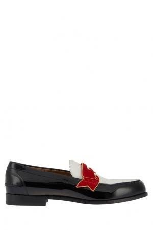 Кожаные лоферы Monono Flat Christian Louboutin. Цвет: красный, белый, черный