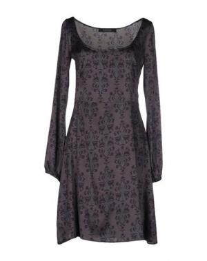 Короткое платье FISICO-CRISTINA FERRARI. Цвет: стальной серый