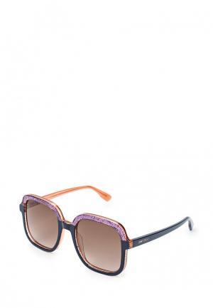 Очки солнцезащитные Jimmy Choo. Цвет: синий