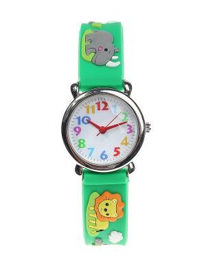 Часы Migura. Цвет: зеленый, серый, оранжевый, желтый