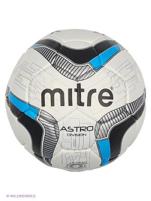 Мяч футбольный MITRE ASTRO DIVISION. Цвет: голубой, белый, черный, синий, серый