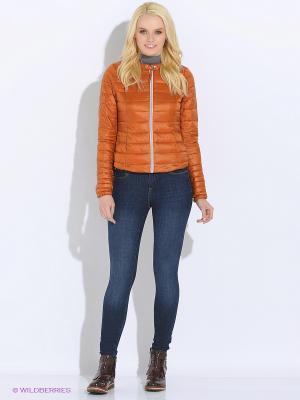 Куртка TOM TAILOR. Цвет: оранжевый, светло-коричневый, терракотовый