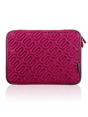 Чехол для MacBook 15.4 Лого (цвет - красно-розовый) Kawaii Factory. Цвет: малиновый