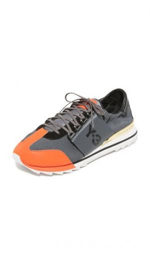 Спортивные кроссовки  Rhita Y-3. Цвет: ночной металлизированный/искусный оранжевый/черный