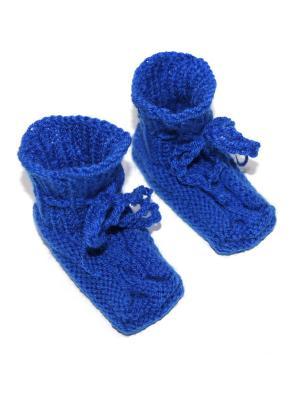 Пинетки Бабушкино тепло. Цвет: синий