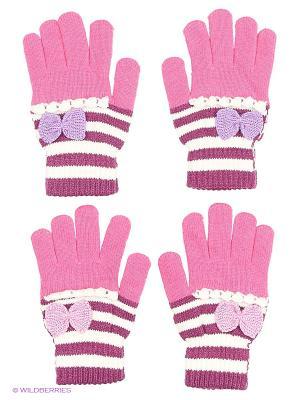 Перчатки FOMAS. Цвет: фуксия, синий, сиреневый, фиолетовый