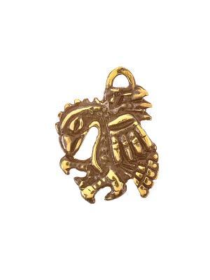 Амулет защитный Орел Ацтеков Aztek. Цвет: желтый