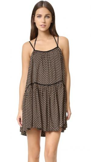 Платье Autumn с завязками Flannel Australia. Цвет: принт