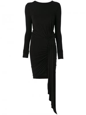 Платье мини с драпировкой Alexandre Vauthier. Цвет: чёрный