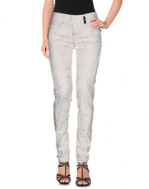 Джинсовые брюки HIGH. Цвет: слоновая кость