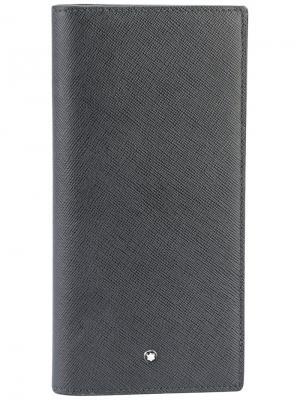 Удлиненный кошелек Sartorial Montblanc. Цвет: серый