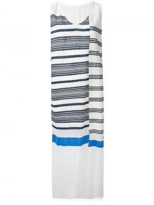 Платье в полоску Lemlem. Цвет: белый