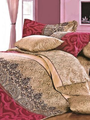 Комплект постельного белья Севилья Магия Ночи. Цвет: светло-коричневый, темно-красный
