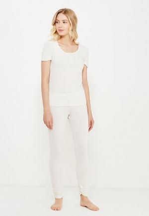 Комплект леггинсы и футболка Luisa Moretti. Цвет: белый
