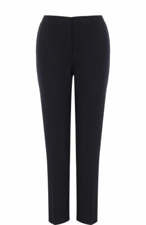 Укороченные брюки прямого кроя со стрелками Dries Van Noten. Цвет: темно-синий