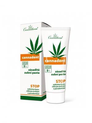 Зубная паста Cannadent 75 г. Cannaderm. Цвет: белый, зеленый