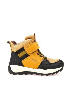 Ботинки GEOX. Цвет: желтый, коричневый