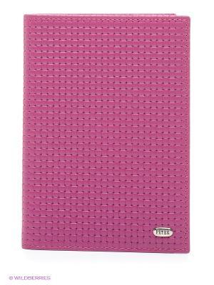 Обложка на паспорт Petek. Цвет: малиновый, фиолетовый