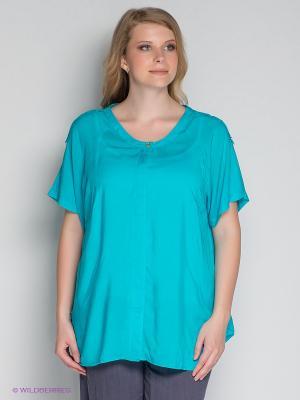 Блузка ARDATEX. Цвет: бирюзовый