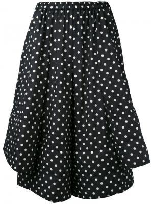 Укороченные брюки в горошек Comme Des Garçons. Цвет: синий