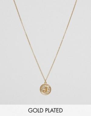 Ottoman Hands Ожерелье с инициалом J на подвеске. Цвет: золотой