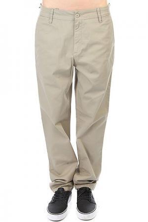 Штаны прямые женские  Vesper Pant Gobi Rinsed Carhartt WIP. Цвет: бежевый