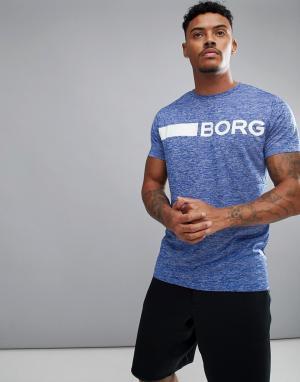 Bjorn Borg Синяя футболка классического кроя Performance. Цвет: синий