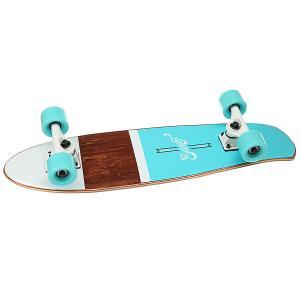 Скейт мини круизер  Shelby Ocean 7.25 x 27 (68.5 см) Eastcoast. Цвет: голубой,коричневый